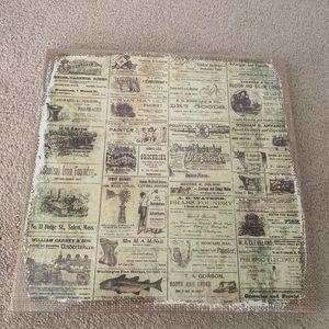 NWT vintage newspaper box sign